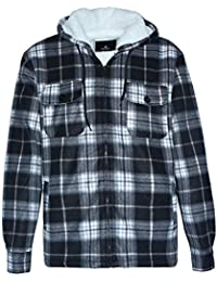 Winter Heavy Warm Sherpa Lined Fleece Plaid Flannel Jacket Men Plus Size S-5XL Big&Tall Mens Coat