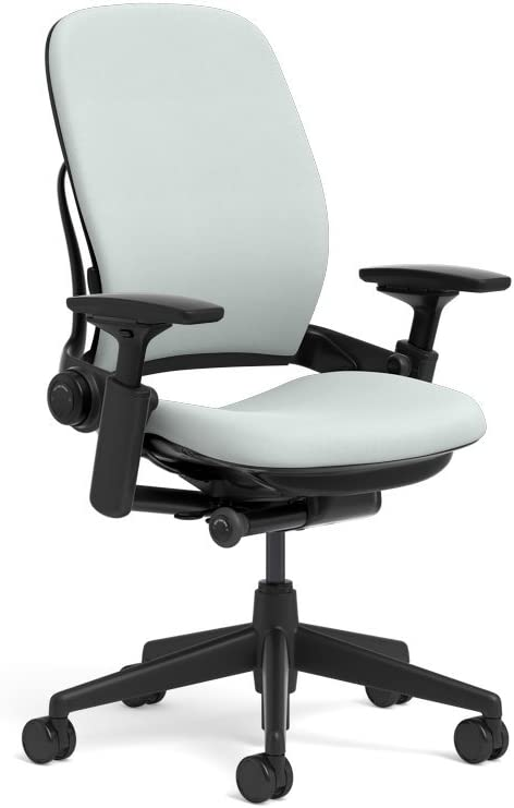 Steelcase Leap Ergonomic Office Chair with Flexible Back | Adjustable Lumbar, Seat, and Arms | Black Frame and Buzz2 Alpine Fabric