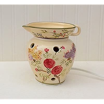 Click for Tuscayn Flowered Garden Hand Painted Ceramic Electric Tart Burner, 89750 by ACK