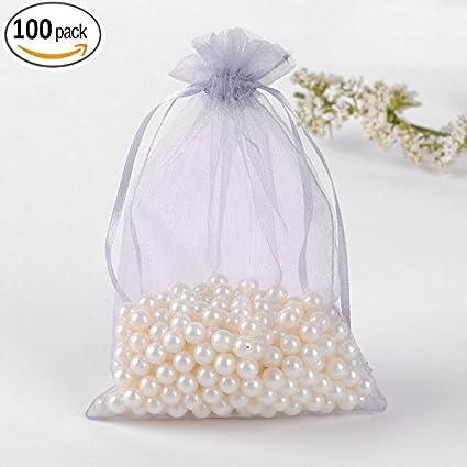 YUYIKES 100 piezas de organza joyería bolsillos boda bolsas ...