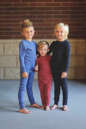 3T City Threads Little Boys Thermal Underwear Set Perfect for Sensitive Skin SPD Sensory Friendly Base Layer Thermal Wear Cotton Ski Clothing for Kids Comfortable Ultra Soft Forest Green