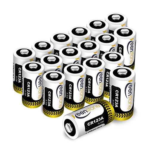 ([UL Certified] CR123A 3V Lithium Battery, Keenstone 1600mAh 18Pack Non-Rechargeable CR123A Batteries for Flashlight Torch Microphones(Not Compatible with Arlo Cameras))