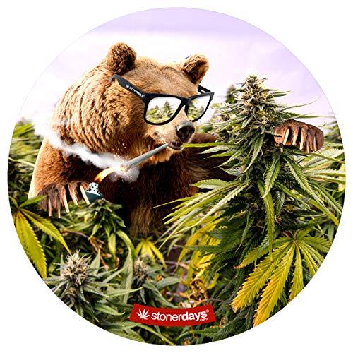 - Kush Bear Dab Mat - StonerDays Apparel - Mousepad Style Dabmat | Dabpad | Rigmat | Dabmat