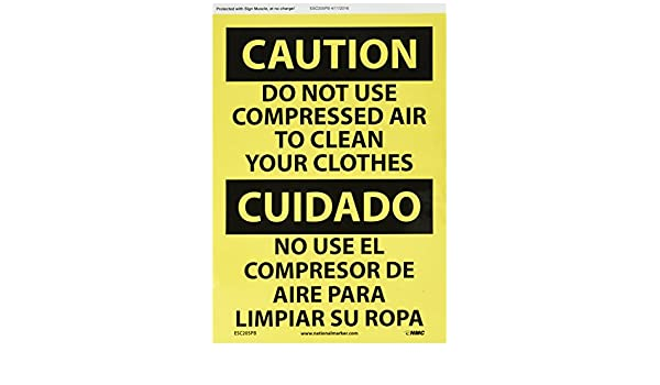 NMC ESC205PB Bilingual OSHA Sign, Legend