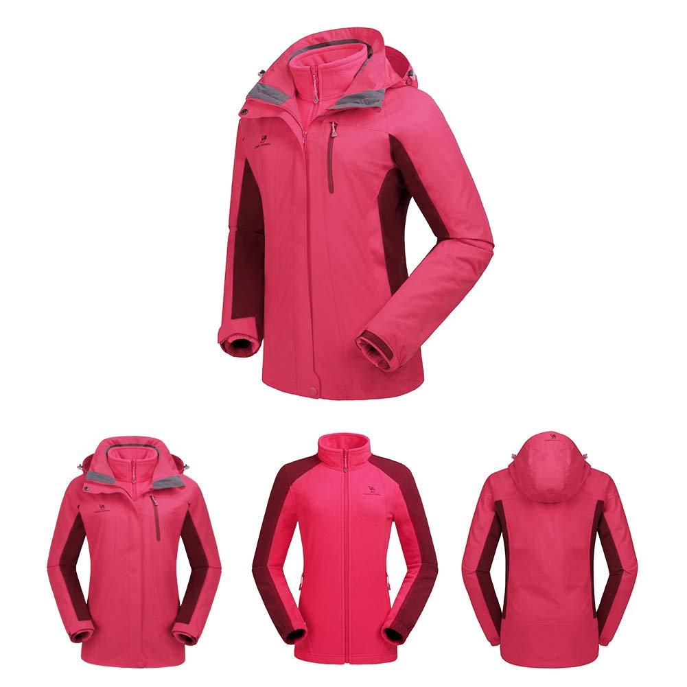 Camel Crown Womens Ski Waterproof Jacket Fleece Inner Rain Winter Jaket Silver Misty Coats Hooded Windproof Snowboard For