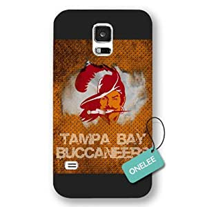 Onelee(TM) -Black Frosted NFL Team Tampa Bay_Buccaneers Logo Samsung Galaxy S5 Case & Cover - Black 5
