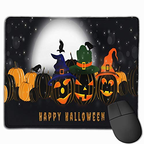 SincerityFirst 2017 Happy Halloween 11.8''x 9.8'' Rectangle Gaming Mouse Pad Novelty Pattern 3D Printed Non-Slip Polyester Mouse Mat ()