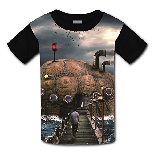 100% Cotton New Slim fit Tee Shirt 3D Make Custom With Turtle Ship For Unisex Child M