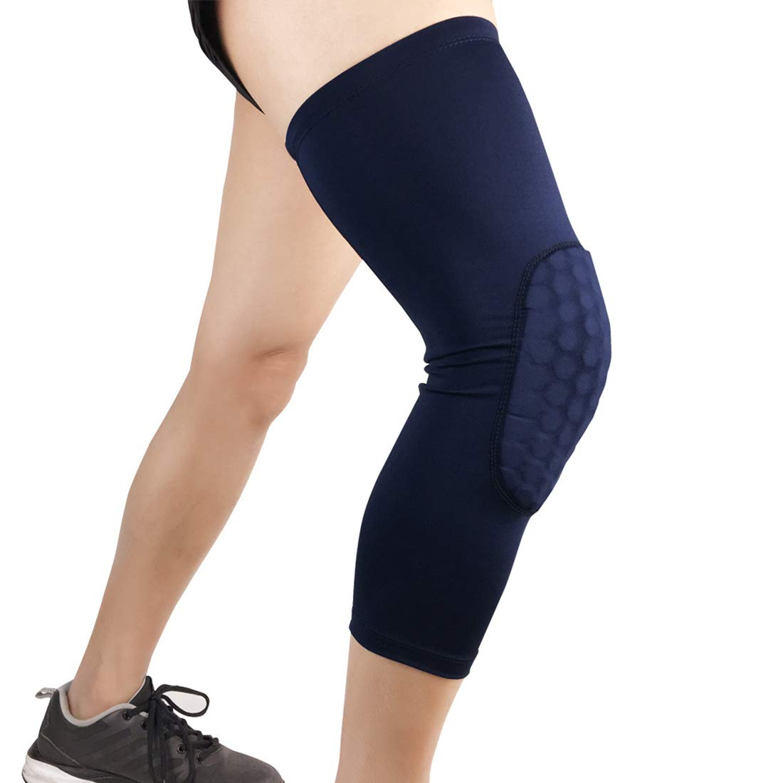 blueee Large Knee Support Pads Knee Compression Sleeve Support Relief Thick Sponge Collision Avoidance Kneepad NonSlip Skating Dance Predector (1pair)