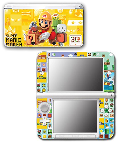 Bros Super Game Original Mario (Super Mario Maker New Bros 3 Level World Video Game Vinyl Decal Skin Sticker Cover for Original Nintendo 3DS XL System)
