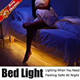 Motion Activated Bed Light, Vansky Flexible LED Strip Motion Sensor Night Light Bedside Lamp Illumination with Automatic Shut Off Timer (Warm Soft Glow)