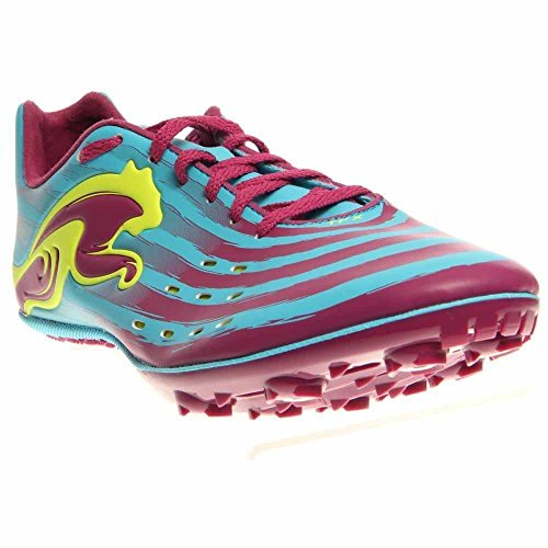 (PUMA Women's TFX Sprint V4 Running Shoe,Blue Atoll/Magenta/Fluro Yellow,8 B US)