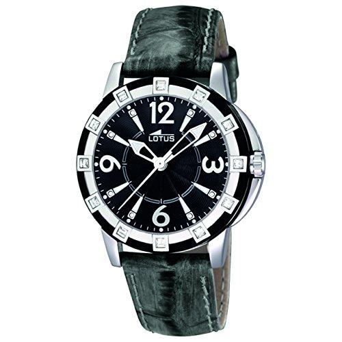 Lotus 15745/4 - Reloj analógico de cuarzo para mujer con correa de piel, color negro: Lotus: Amazon.es: Relojes