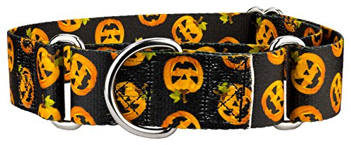 Country Brook Design | 1 1/2 Inch Happy Jack Martingale Dog Collar - Medium -