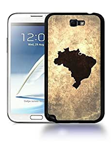 Brazil National Vintage Country Landscape Atlas Map Phone Designs For SamSung Note 3 Case Cover