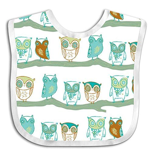 Owl Illustration Baby Bibs Baby Bandana Drool Bibs for Drooling and Teething