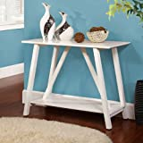 Hillside Traditional Style White Finish Console Table