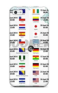 Iphone Cover Case - Fifa World Cup 2014 Schedules 8211 Fifa World Cup 2014 Protective Case Compatibel With Iphone 5c