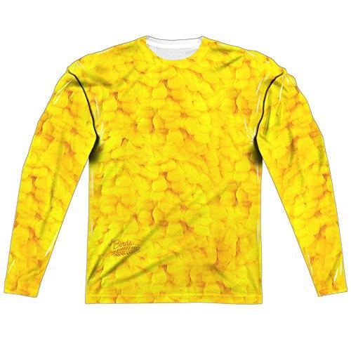 Twitter Bird Costume (Sesame Street Big Bird Costume (FB Print) Mens LS Sublimation Shirt)