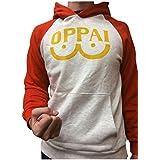 Orange&Grey Hoodie Saitama Oppai Sweatshirt Cosplay Costume Hooded Jacket Outfit Coat