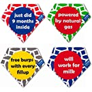 Baby Bandana Drool Bibs Unisex Modern for Boys & Girls 4-Pack Absorbent 100% Cotton Cute Baby Shower Gift Set
