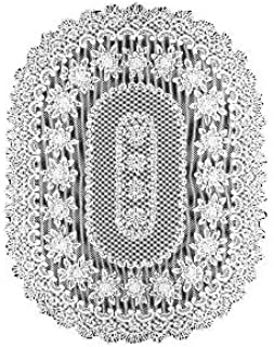 product image for Heritage Lace Rose 60-Inch by 108-Inch Tablecloth, Off White