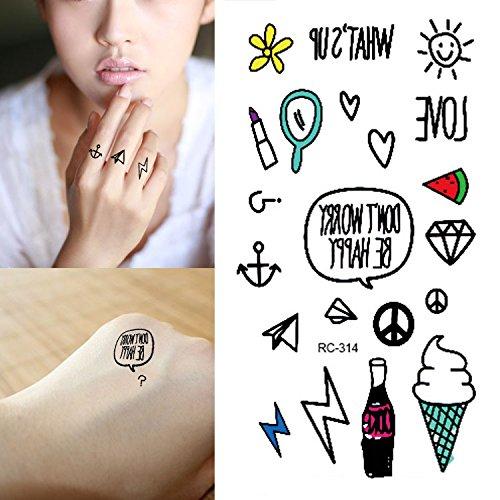 Body Art Temporary Removable Tattoo Stickers Cartoons RC2314 Sticker Tattoo - FashionDancing