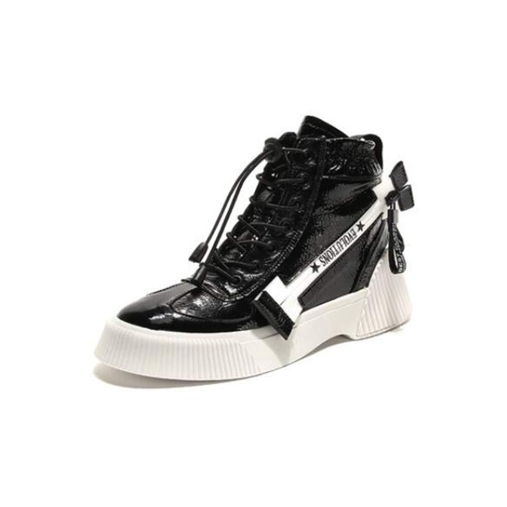 LF Herbst Martin Stiefel Flache untere Schule Stiefel Retro Hohe Stiefel (Farbe   Schwarz Größe   EU39 UK6.5 CN40)