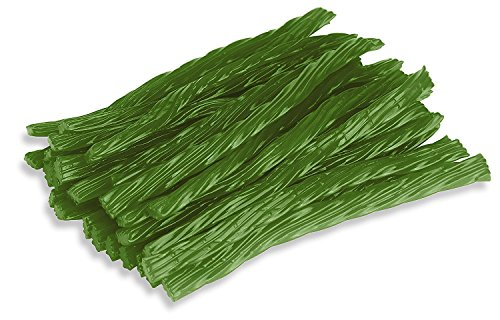 Happy Bites Green Apple Licorice Twists - Certified Kosher - 1 Pound Bag (16 oz)