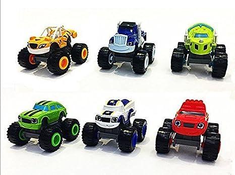 Jingyuan - Set di 6 macchinine giocattolo Transformers Blaze the
