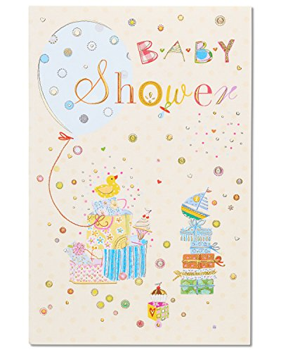 Celebration Baby Shower Congratulations Card with Foil