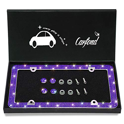 license plate frame purple bling - 7
