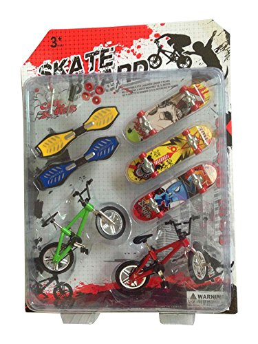 Mountain Finger Bike Fixie BMX Bicycle Boy Toy DIY Creative Game +skateboard (Fixie Rollers)