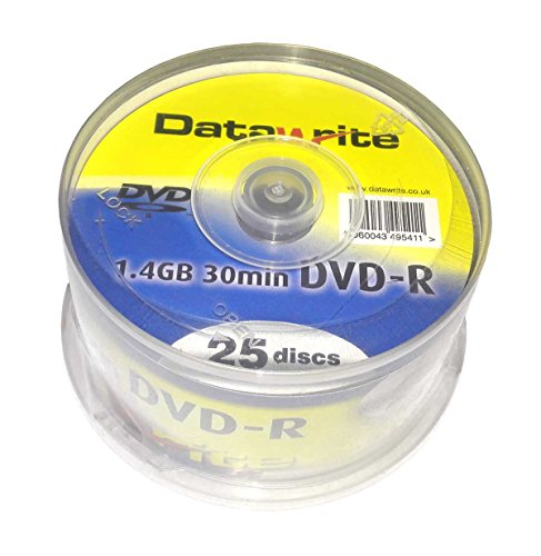 25 Mini DVD-R 8cm Datawrite 1,4GB 30min in 25er Spindel Cakebox