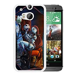 Custom-ized The Nightmare Before Christmas 1 White Case For HTC ONE M8 Phone Case Cool Design