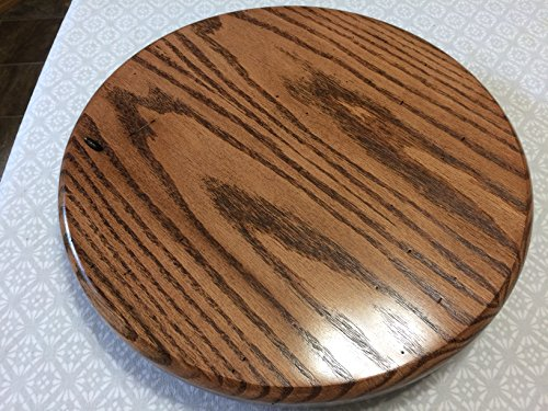 Oak Round lazy susan, 14'' Diameter, hand crafted (Rustic) New
