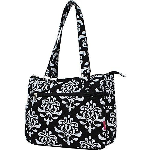 Damask Style Hobo NGIL black Handbag Fashion Quilted Shabby RzUqSwY