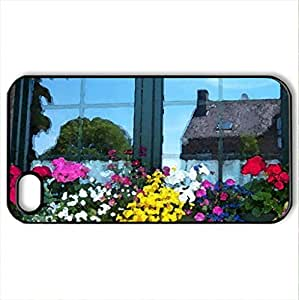 window reflection - Case Cover for iPhone 4 and 4s (Watercolor style, Black)