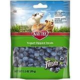 Kaytee Pet Products SKT100502787 Fiesta Yogurt Dipped Small Animal Treat, 3.5-Ounce, Blueberry Flavor