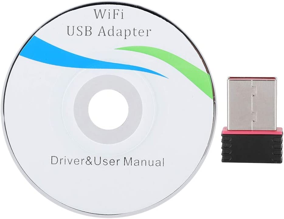 2.4Ghz Wireless Network Card Transmitter Receiver Black Mugast 150Mbps USB 2.0 WiFi Dongle Adapter Support Windows Vista//XP//2000//7 and for Linux