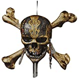 Disney Pirates of the Caribbean Paperboard Skull & Crossbones Wall Decoration