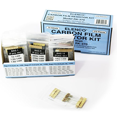 Elenco  1/4-Watt Resistor Kit - 370 Pieces