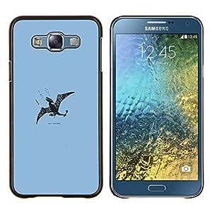 EJOOY---Cubierta de la caja de protección para la piel dura ** Samsung Galaxy E7 E700 ** --Flying Dragon