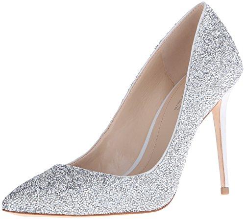 Olson mujer Camuto Crystal Im Vestido Silver para Pump Vince OaAwqXU