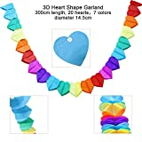 Birthday Party Decorations Supplies Favours, Acetek Happy Birthday Banner Flags 6 Colorful Tissue Paper Pompom Balls, 18 Balloons, Heart & Star Shape Garland for Birthday, Baby Shower, Bridal, Wedding