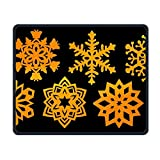 Golden Snowflakes Office Rectangle Non-Slip Rubber Mouse Pad Cool Gaming Mouse Pad for Laptop Displays Tablet Keyboard