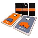 Harvil Aluminum-Framed Cornhole Bean Bag Toss Game Set with 8 Double-Lined All-Weather Bean Bags and Carrying Case