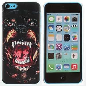 SOL Fierce Bear Pattern PC Hard Case for iPhone 5C