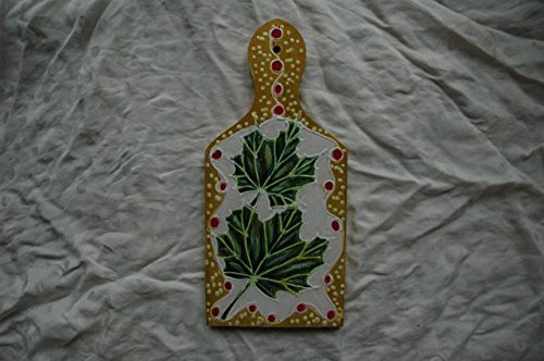 Hand Painted Sycamore Leaves Wooden Cutting Board, Art Gift, Leaves of the Sycamore Botanical, Leaves Wall Decor, Mini Green Sycamore Tree Leaf. ()