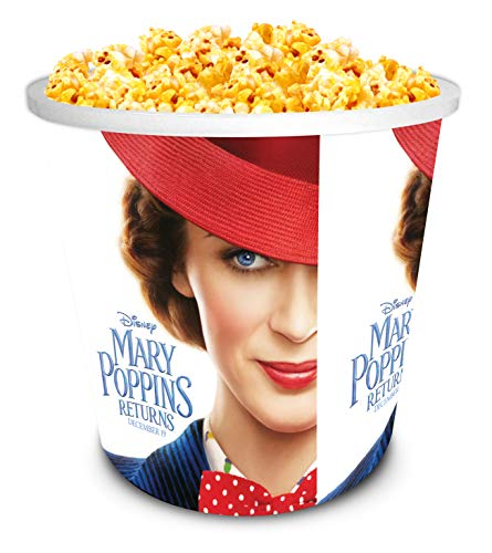 Disney Mary Poppins 2018 Movie Theater Exclusive 130 oz Plastic Popcorn Tubs